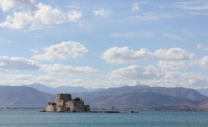 Ancient redoubt:The tiny fortified island of Bourtzi.