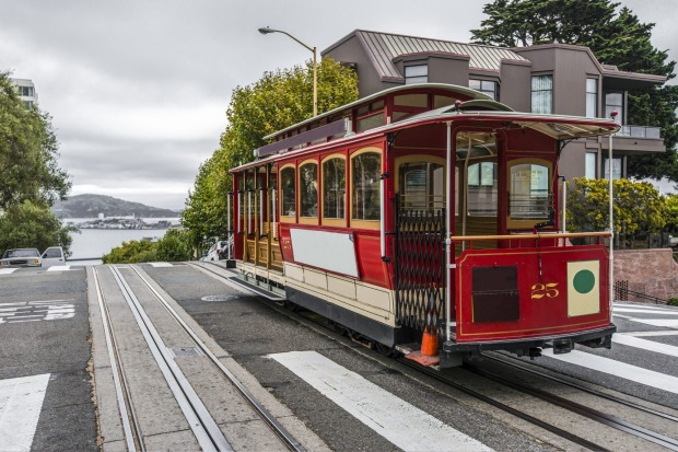 CABLE CARS, SAN FRANCISCO, US: The quintessential transport around San Francisco's roller coaster hills, cable cars are ...