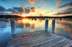 Gosford, pier, sunset, dock. jetty