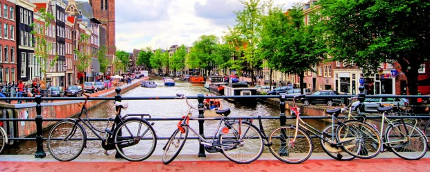 Amsterdam, Netherlands. Bicycles