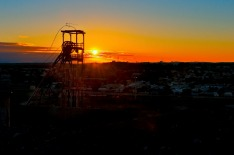 Broken Hill, mining, sun set