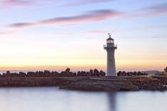 Wollongong, NSW, lighthouse, dusk
