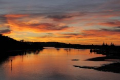 Sunset over Lakes Entrance.