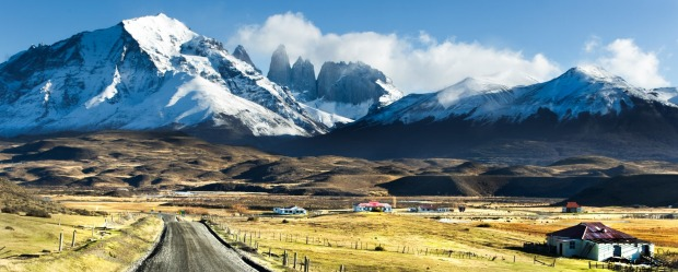 Chile, road, mountain range