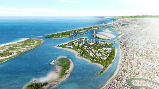 An artist's impression of the Broadwater Marine Project.