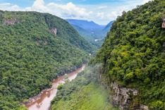 Guyana, South American, mountains, valley
