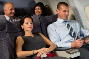 It's OK to recline your seat.