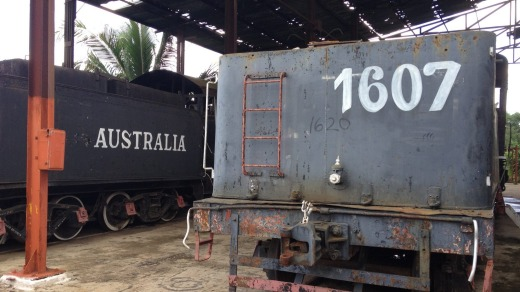 Old steam trains used to transport sugarcane from Australia, Cuba.