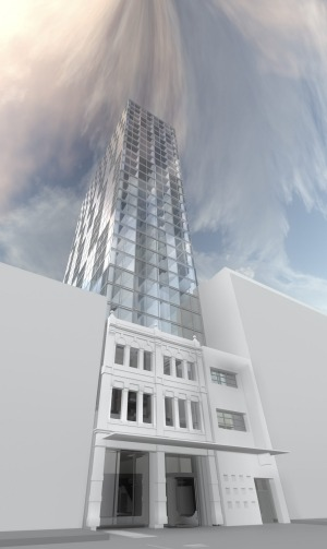 An artist's impression of the 368-room, $90 million hotel planned for Elizabeth Street in Brisbane's CBD.