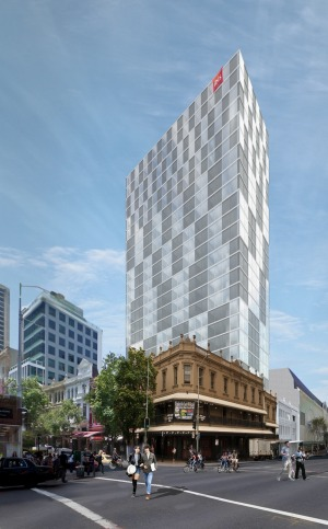 An artist's impression reveals how the hotel would appear on the CBD storyline.