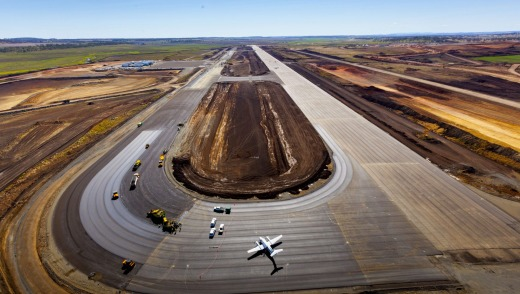 Brisbane West Wellcamp Airport which is in the final stages of development near Toowoomba.