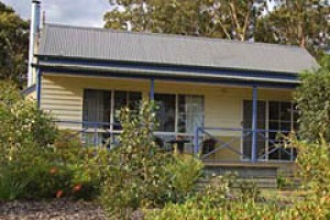 House on the hill ... Waverley House Cottages set in landscaped bush gardens.