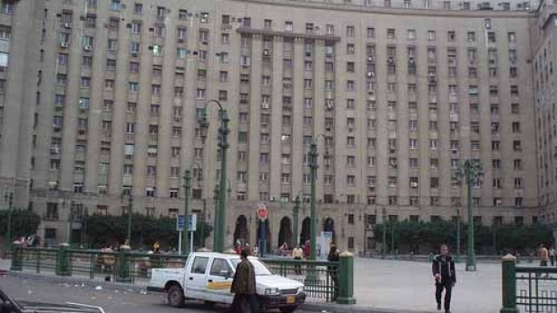 Bureaucratic chaos: The Mogamma in Tahrir Square, Cairo.