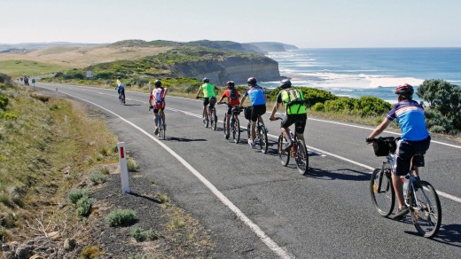 The Great Ocean Road ... great for driving, even better for cycling.