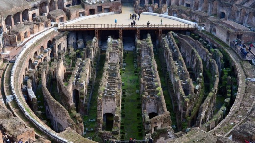 Putting history into perspective: The Colosseum, Rome.