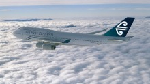 DADDY'S YACHT: Air NZ's Boeing 747-400 completed its final flight in teal livery today.