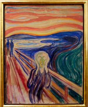 THE SCREAM, EDVARD MUNCH  - THE NATIONAL GALLERY, OSLO. Perhaps the most haunting image ever created.