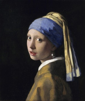 GIRL WITH A PEARL EARRING, JOHANNES VERMEER - MAURITSHUIS GALLERY, THE HAGUE. Sometimes called 'the Dutch Mona Lisa', ...