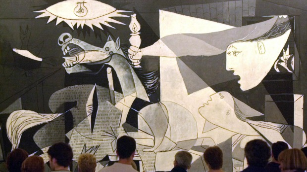 GUERNICA, PABLO PICASSO - MUSEO REINA SOFIA, MADRID. Probably the most famous anti-war work ever painted: certainly the ...