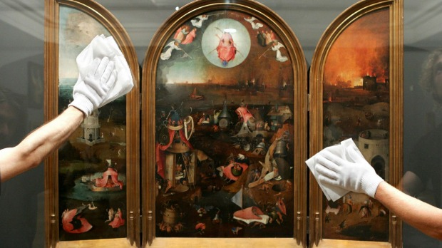THE LAST JUDGEMENT, HIERONYMUS BOSCH - KUNSTHISTORISCHES  MUSEUM, VIENNA. No-one ever portrayed Hell as well as Bosch, ...
