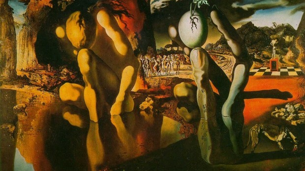 METAMORPHOSIS OF NARCISSUS, SALVADOR DALI - TATE MUSEUM, LONDON. Dali himself was a narcissist so his subject matter was ...