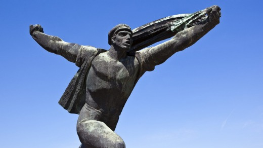 Communist era statue at Memento Park.
