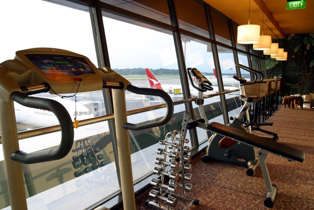 Changi's 24-hour gym.