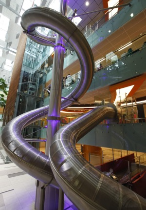 Changi International is home to the worlds largest airport slide.