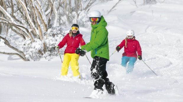 Snow-offs: Family fun at Falls Creek.