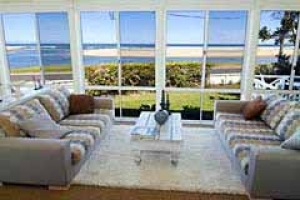 Unspoilt vista . . . The Beach House's floor-to-ceiling windows face the water.