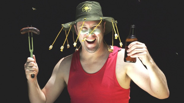 Image result for aussie in corked hat
