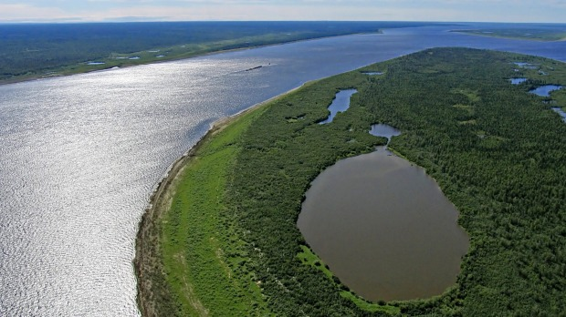 5. Yenisei River, Mongolia and Russia. The Yenisei River is the largest course of water to meet the Arctic Ocean.