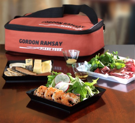 A sample of the The Gordon Ramsay picnic pack. No matter which celebrity heads up the inflight catering – Neil Perry, ...