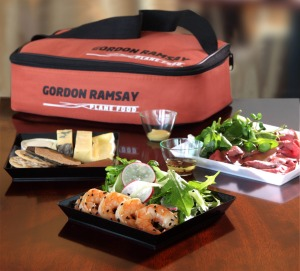 A sample of a picnic pack from Gordon Ramsay's Plane Food.
