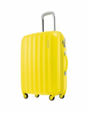Prismo sunflower yellow suitcase.