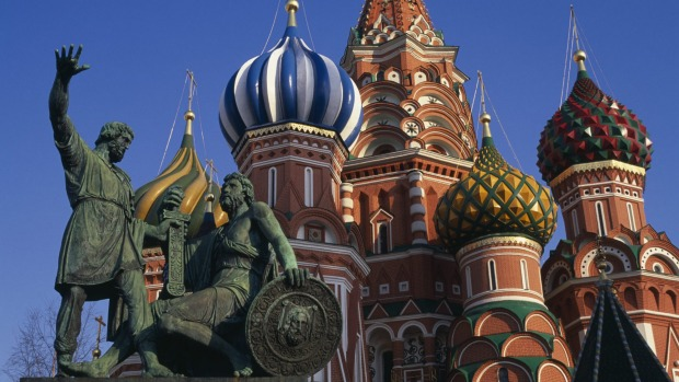Holiday horror: At Basil's Cathedral, Moscow.