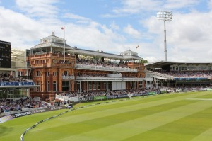 Hallowed turf: The whiff of cricketing heritage – so palpable in the museum – also infuses the Lord's Pavilion.
