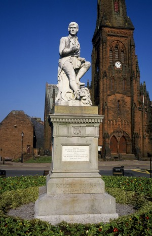 Burns Statue, Dumfries.