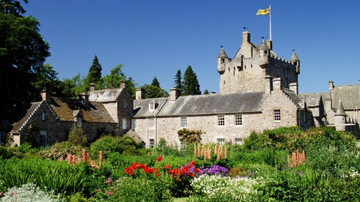 Gardens of  Cawdor Castle in Cawdor, Scotland.