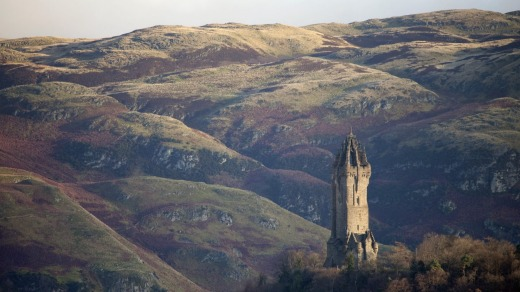 William Wallace monument on the summit of Abbey Craig.