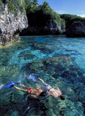 Island of innocence: Adventure activities on Niue include snorkelling at Limestone Rock on Limu.