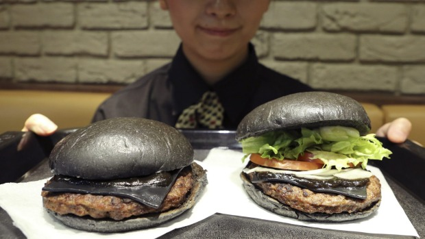 Black buns, black sauce and black cheese: Burger King Japan's limited ...