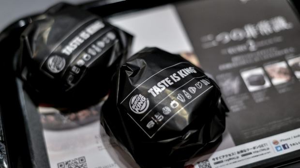 Eat in or takeaway: The Black burgers come nicely wrapped with matching black packaging.