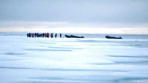 Icewalk: Walking on Arctic sea ice is a unique summer experience that is only occasionally possible.