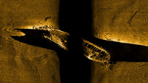 Sonar: The first view of one of the Franklin Expedition ships since 1845.