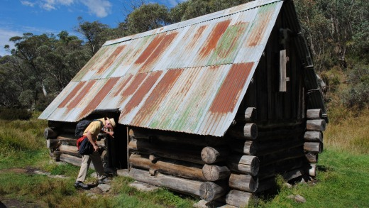 The historic Dibbins Hut dates to the 1920s.
