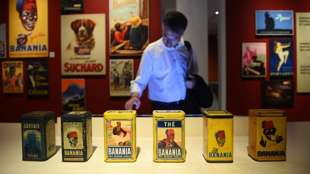 A visitor looks at a display during a preview of the Belgium Chocolate Village.