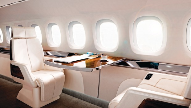 The interior of the Aerion AS2 supersonic business jet.