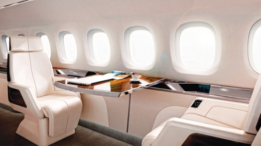 The interior design for the Aerion AS2 supersonic business jet.