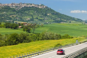 On the road: hiring a car is the best way to see many parts of Europe.